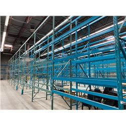 9 SECTIONS OF 16FT H X 42INCH W WAREHOUSE PALLET RACKING - DECKING NOT INCLUDED
