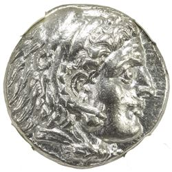 MACEDONIAN KINGDOM: Alexander III, the Great, 336-323 BC, AR tetradrachm (16.95g), Ekbatana. NGC AU