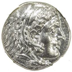 MACEDONIAN KINGDOM: Alexander III, the Great, 336-323 BC, AR tetradrachm (16.95g), Ekbatana. NGC AU