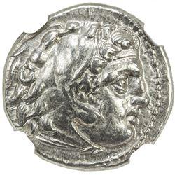 MACEDONIAN KINGDOM: Philip III Arrhidaios, 323-317 BC, AR drachm (4.26g), Sardes. NGC AU