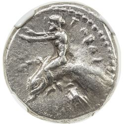 TARENTUM/TARAS: AR didrachm (nomos), (8.14g), ca. 465-455 BC. NGC EF