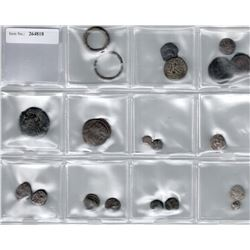 ANCIENT GREECE: LOT of 7 silver and 13 bronze coins from the ancient world