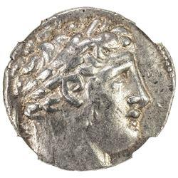 TYRE: AR shekel (14.2g), CY38 (89/8 BC). NGC EF