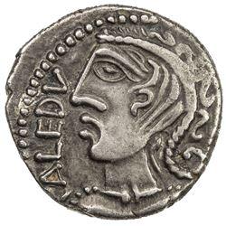 GAUL: Remi, AR quinarius (1.81g), 1st century BC. EF