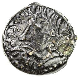 GAUL: Suessiones, AE unit (2.91g), 1st century BC. VF-EF