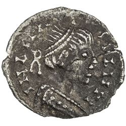 OSTROGOTHS: Baduila, 541-552, AR 1/4 siliqua (0.30g) (Ticinum), ND. VF