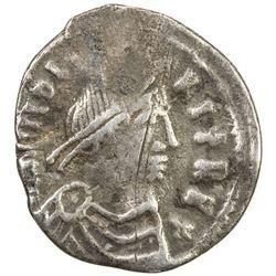 VANDALS: Hilderic, 523-530, AR 50 denarii (1.21g), Carthage. VF
