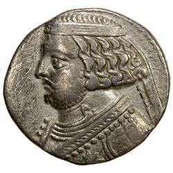 PARTHIAN KINGDOM: Orodes II, c. 57-38 BC, AR tetradrachm (14.52g), Seleukaia on the Tigris. VF
