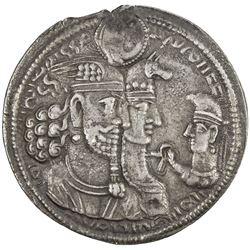 SASANIAN KINGDOM: Varhran II, 276-293, AR drachm (4.11g). VF