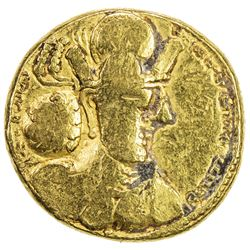 SASANIAN KINGDOM: Shahpur II, 309-379, AV dinar (7.18g). F-VF