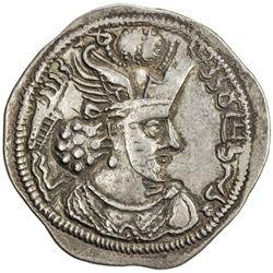 SASANIAN KINGDOM: Varhran IV, 388-399, AR drachm (4.09g), Herat. EF