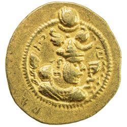 SASANIAN KINGDOM: Peroz, 457-484, AV dinar (4.1g), BBA (the Court mint). EF
