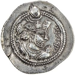 SASANIAN KINGDOM: Valkash, 484-488, AR drachm (4.11g), AS (the Treasury mint), ND. VF-EF