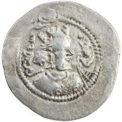 SASANIAN KINGDOM: Zamasp, 497-499, AR drachm (3.94g), LYW (Riv-Ardashir), year 3. VF