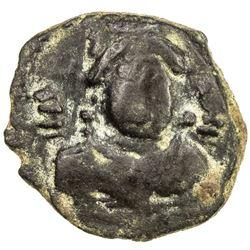 ALCHON HUNS: Ksatrapa Tarika, ca. 6th century, AE unit (1.21g). VF