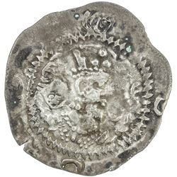 TURK YABGHUS: Anonymous, late 6th or 7th century, AR drachm (3.72g). VF