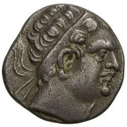 BUKHARA: Euthydemos imitation, ca. 2nd-1st century BC, AR tetradrachm (9.68g). VF