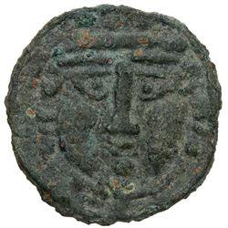 BUKHARA: Unknown ruler, 6th/7th century, AE cash (1.82g). VF
