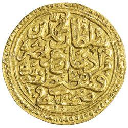OTTOMAN EMPIRE: Mehmet II, 1451-1481, AV sultani (3.50g), Kostantiniye, AH882. EF