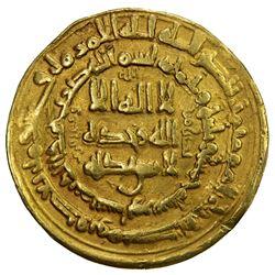 SAMANID: Ibrahim b. Ahmad, 947, AV dinar (5.55g), Nishapur, AH335. VF
