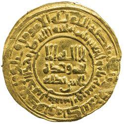 SAMANID: 'Abd al-Malik I, 954-961, AV dinar (3.81g), Nishapur, AH343. VF