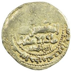 GHAZNAVID: Ibrahim, 1059-1099, AV dinar (4.39g), Ghazna, AH491. EF