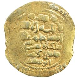 GHAZNAVID: Mas'ud III, 1099-1115, AV dinar (7.54g), Ghazna, AH492. EF