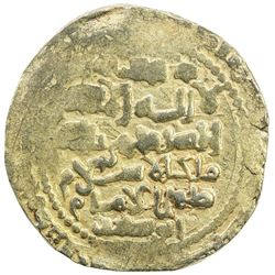 GHAZNAVID: Mas'ud III, 1099-1115, AV dinar (6.64g), Ghazna, AH(4)92. EF