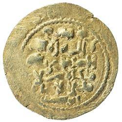 GHAZNAVID: Mas'ud III, 1099-1115, AV dinar (3.92g) (Ghazna), AH(4)92. EF