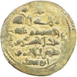 GHAZNAVID: Mas'ud III, 1099-1115, AV dinar (6.01g) (Ghazna), AH(4)9(2). EF
