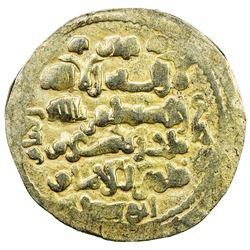 GHAZNAVID: Mas'ud III, 1099-1115, AV dinar (5.92g) (Ghazna), AH(492). EF
