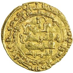 GREAT SELJUQ: Tughril Beg, 1038-1063, AV dinar (4.27g), Aydhaj, AH447. VF