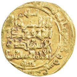 GREAT SELJUQ: Sanjar, 1118-1157, AV dinar (3.25g) (Nishapur), AH513. VF