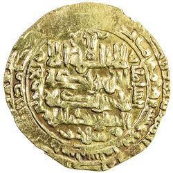 SELJUQ OF WESTERN IRAN: Mahmud II, 1118-1131, AV dinar (3.14g), Tustar, AH524. VF