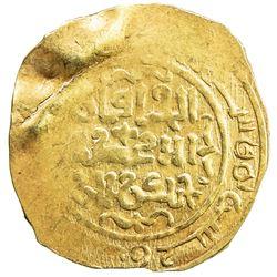 GREAT MONGOLS: Chingiz Khan, 1206-1227, AV dinar (3.56g), MM, AH62x, extremely rare!!! VF-EF