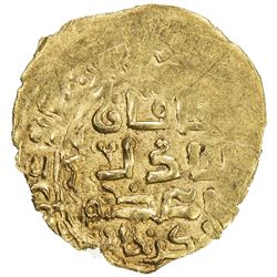 GREAT MONGOLS: Chingiz Khan, 1206-1227, AV dinar (2.09g), Baldat Ghazna, AH(618). EF