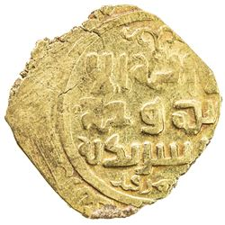 GREAT MONGOLS: Anonymous, ca. 1220s-1240s, AV dinar (4.05g), Samarqand, ND. VF