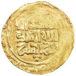 GREAT MONGOLS: Chingiz Khan, 1206-1227, AV dinar (4.67g) (Balkh), DM. EF
