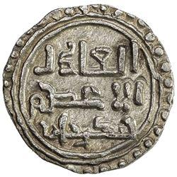 GREAT MONGOLS: Chingiz Khan, 1206-1227, AR dirham (3.12g), NM, ND. EF