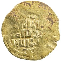 GREAT MONGOLS: Anonymous, ca. 1220s-1240s, AV dinar (3.99g), Khujanda, ND. VF
