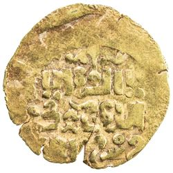 GREAT MONGOLS: Anonymous, ca. 1220s-1240s, AV dinar (2.46g), NM/MM, ND. VF