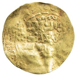 GREAT MONGOLS: Anonymous, ca. 1220s-1230s, AV dinar (2.19g), NM, ND. VF