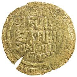 GREAT MONGOLS: Anonymous, ca. 1220s-1230s, AV dinar (6.43g), Bukhara, ND. EF