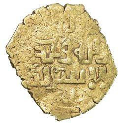 GREAT MONGOLS: Anonymous, ca. 1220s-1240s, AV dinar (1.84g), NM/MM, ND. VF