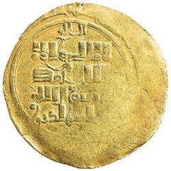 GREAT MONGOLS: temp. Ogedei, 1227-1241, AV dinar (3.67g), Almaligh, DM. EF