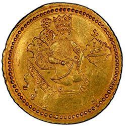 QAJAR: Fath 'Ali Shah, 1797-1834, AV presentation toman (4.59g), Isfahan, AH1245. PCGS MS62