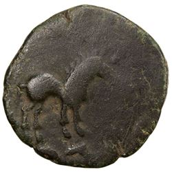 YUTIAN KINGDOM: Anonymous, ca. 200 AD, AE cash (4.11g). F-VF
