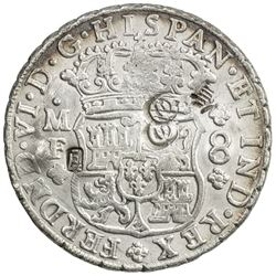 CHOPMARKED COINS: MEXICO: Fernando VI, 1746-1759, AR 8 reales, 1749-Mo. EF