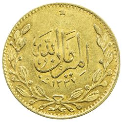 AFGHANISTAN: Amanullah, 1919-1929, AV tilla, AH1337. EF-AU