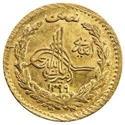 AFGHANISTAN: Amanullah, 1919-1929, AV 1/2 amani, SH1299. AU-UNC